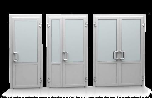 Холодные/теплые алюминиевые двери