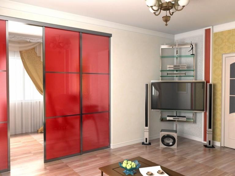 раздвижные стеклянные двери в квартиру