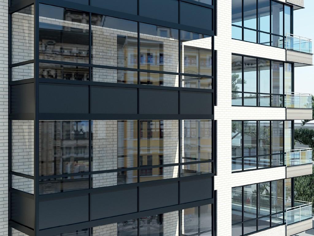 алюминиевое остекление фасадов  зданий