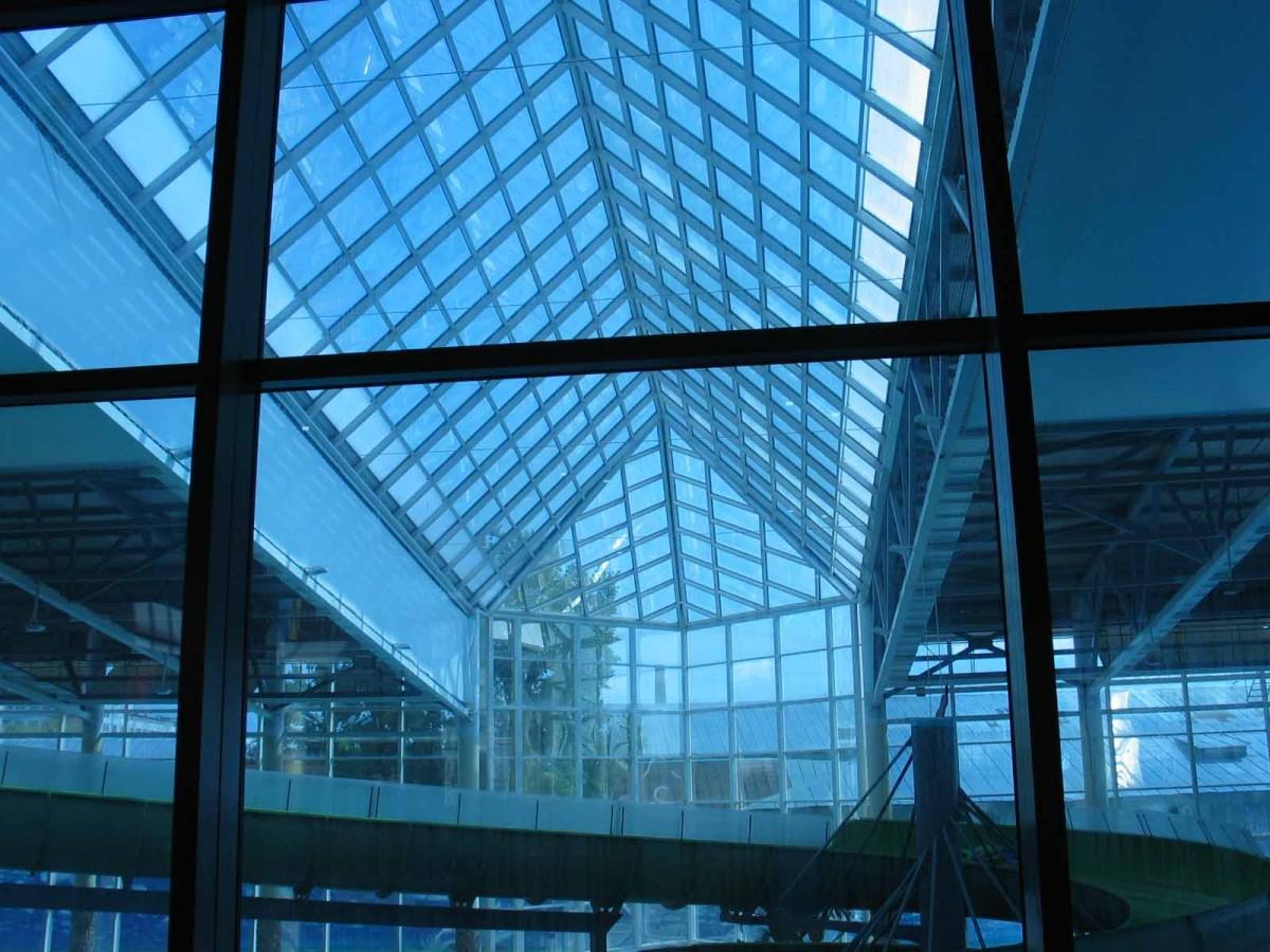 Световые своды на крыше ТЦ