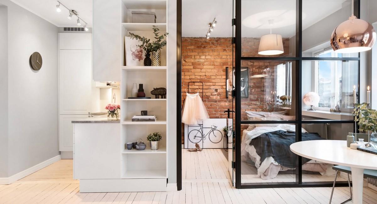 лофт перегородка для спальни в квартире