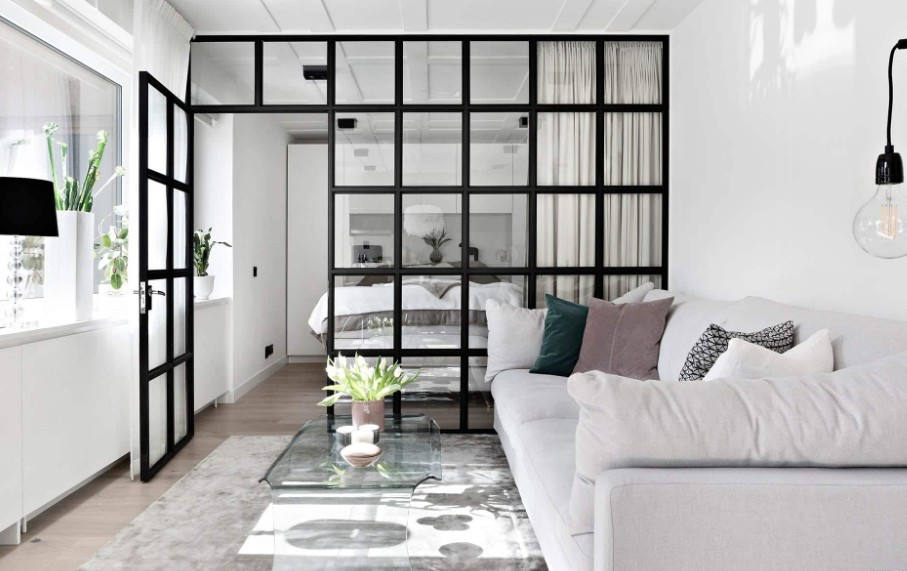 Лофт перегородка для небольшой квартиры, студии