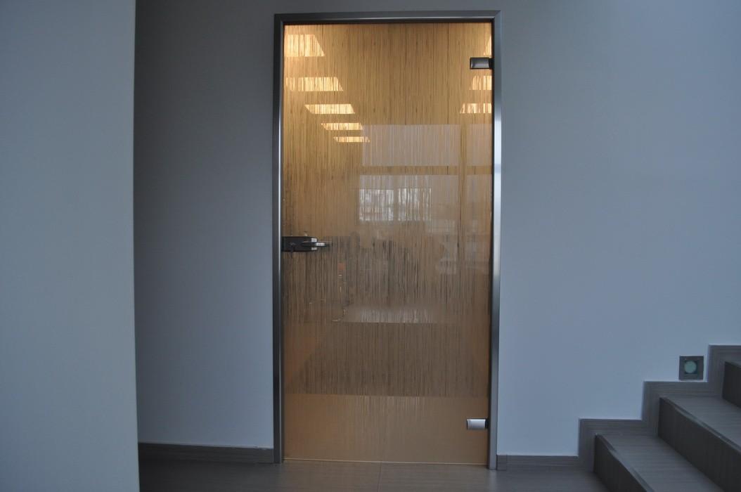 одностворчатые маятниковые стеклянные двери