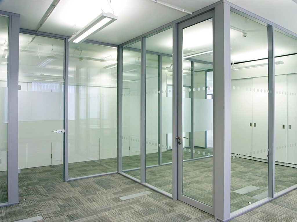 Офисные перегородки на алюминиевом профиле