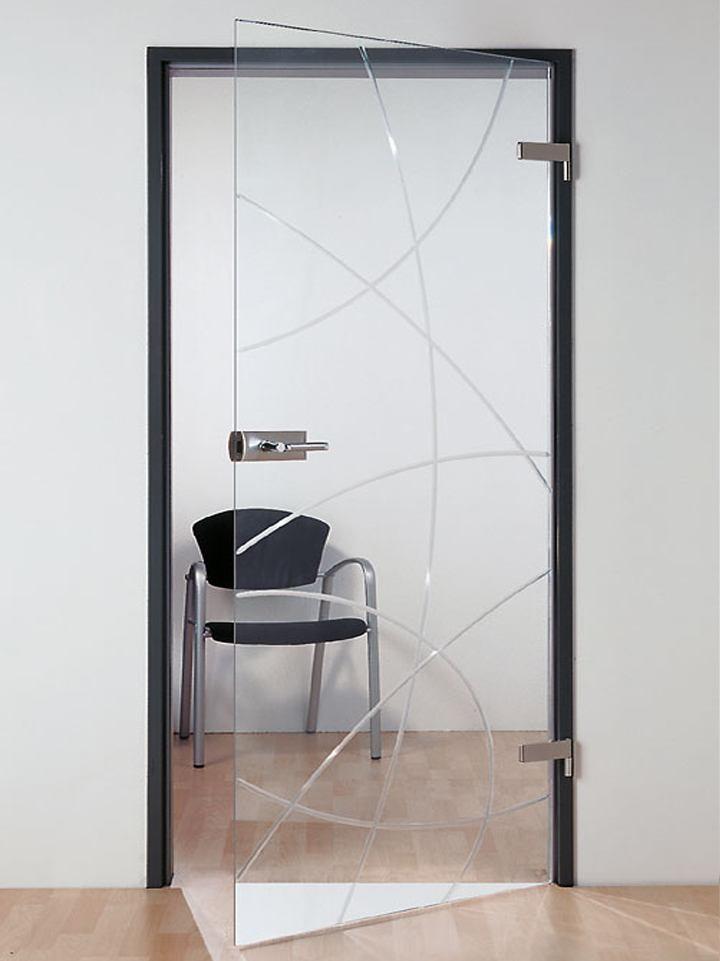 распашные стеклянные двери из закаленного стекла