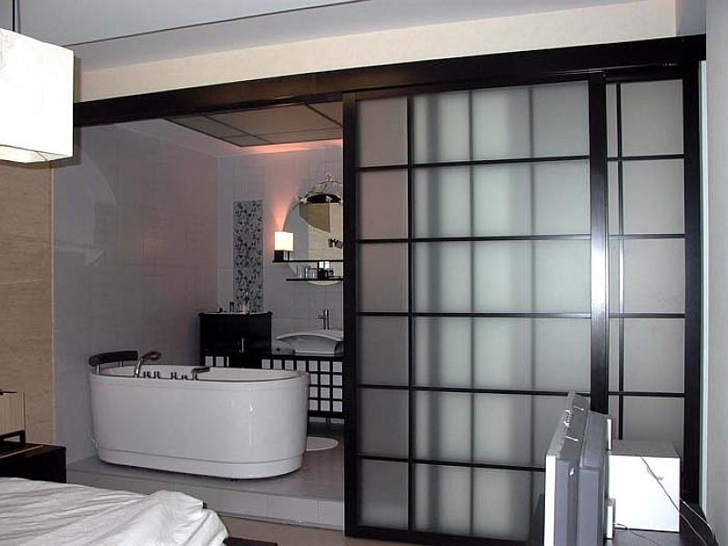 раздвижные стеклянные двери для ванны, душевой