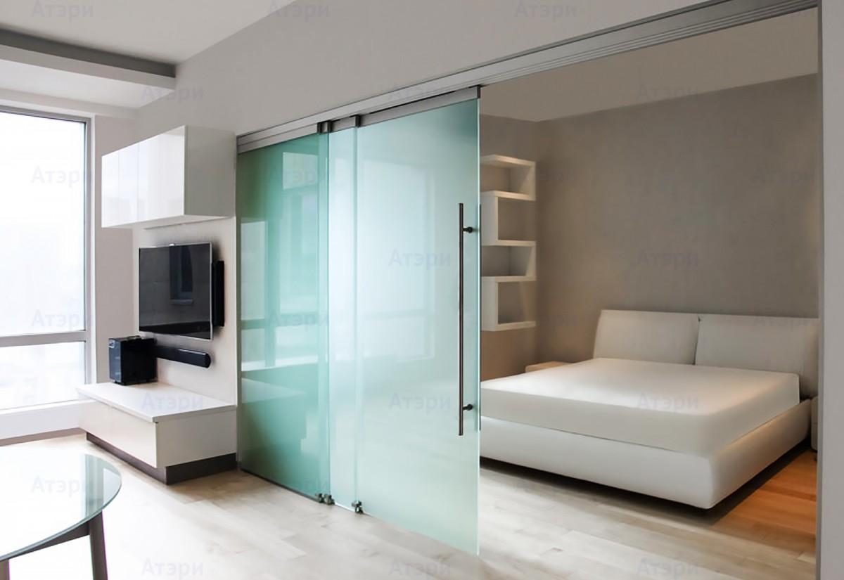 раздвижные стеклянные двери для спальни