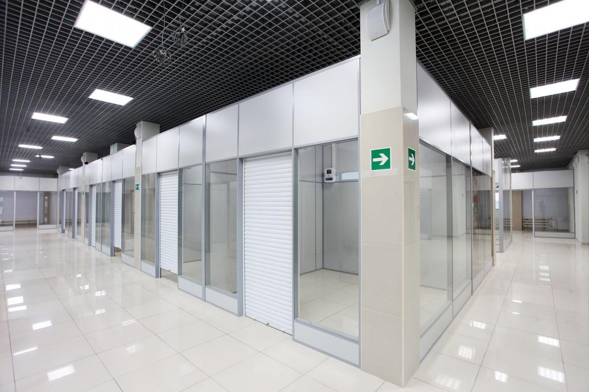 перегородки для торгового центра стеклянные