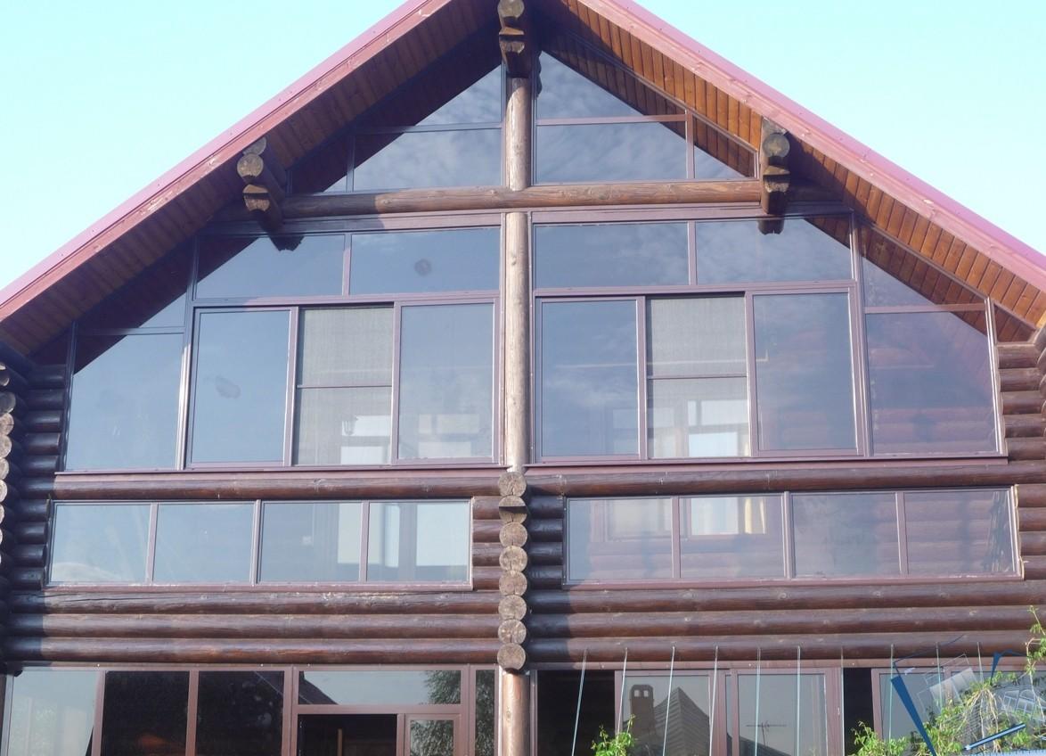 Теплое остекление коттеджей и загородных домов