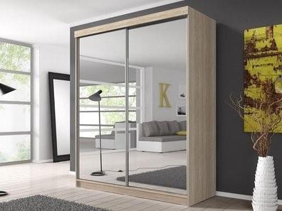 Раздвижные зеркальные двери купе для гардеробной