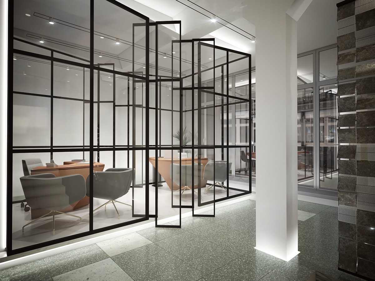 лофт перегородка для офиса и бизнес центра