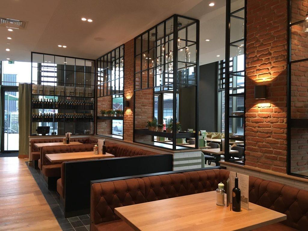 лофт перегородка для кафе и ресторана