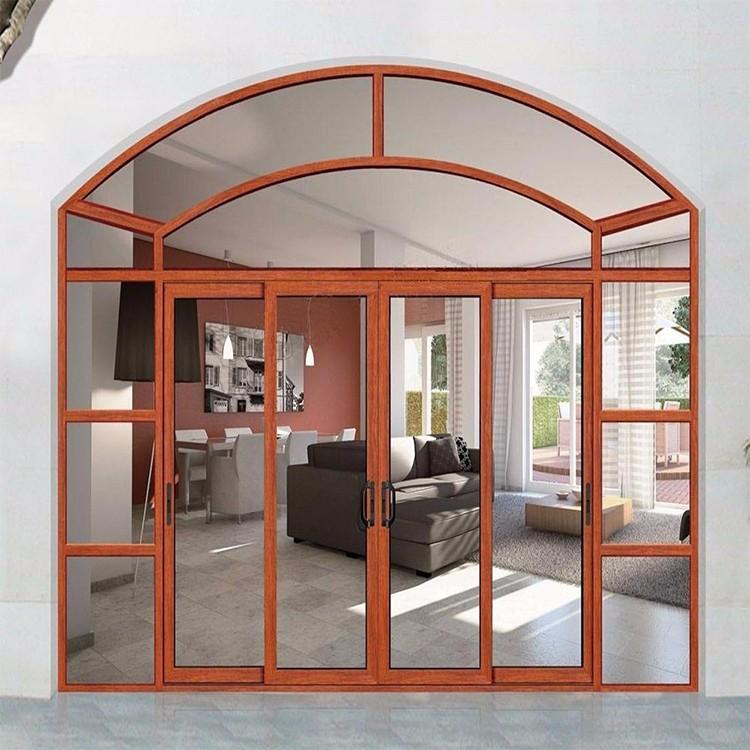 арочная распашная стеклянная дверь