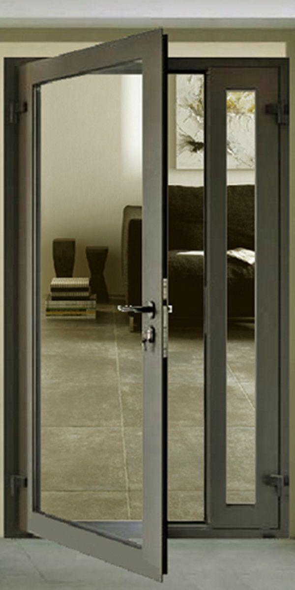 алюминиевые двери со стеклом межкомнатные