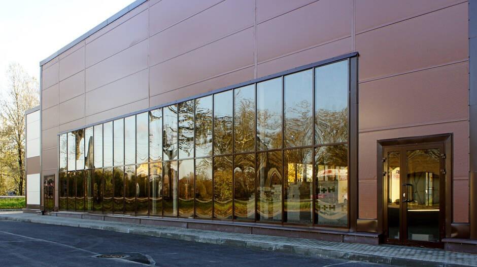 теплое иостекление фасада торговых и развлекательных центров, магазинов