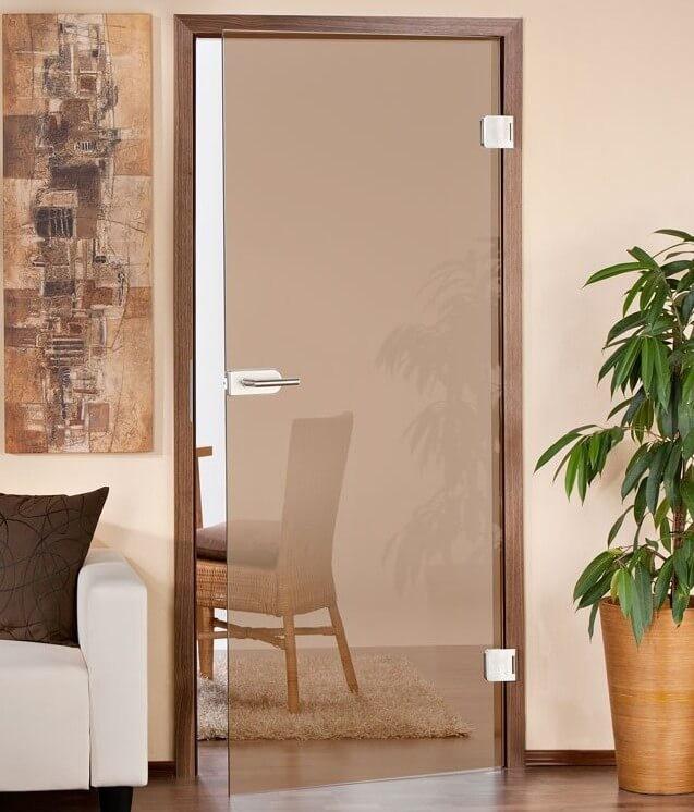 маятниковые стеклянные двери для кабинета