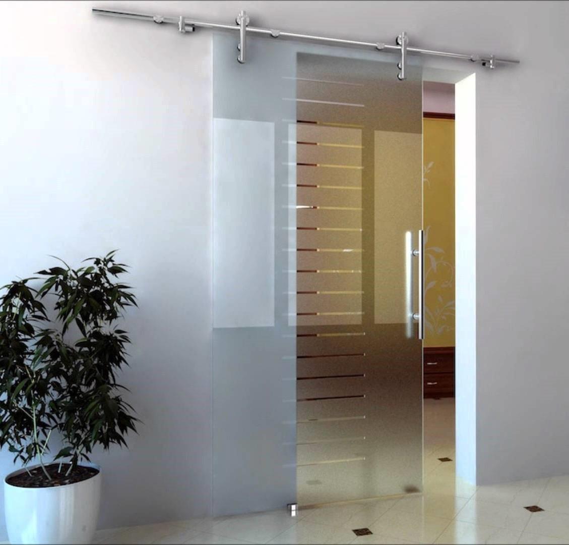 Раздвижные одностворчатые стеклянные двери