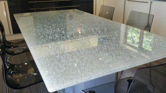 стеклянный офисный стол триплекс